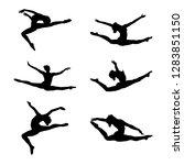set group artistic gymnastics... | Shutterstock .eps vector #1283851150