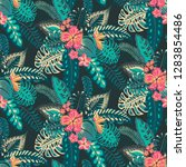 beautiful seamless pattern with ... | Shutterstock .eps vector #1283854486