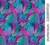 beautiful seamless pattern with ... | Shutterstock .eps vector #1283854510