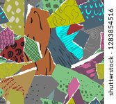 vector seamless pattern. pieces ... | Shutterstock .eps vector #1283854516