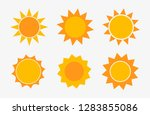 set of sun icons. vector... | Shutterstock .eps vector #1283855086