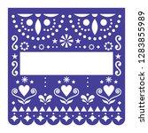 papel picado template vector... | Shutterstock .eps vector #1283855989