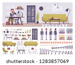 male manager business office... | Shutterstock .eps vector #1283857069