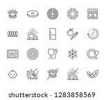 utensil flat line icons set.... | Shutterstock .eps vector #1283858569
