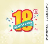 colorful anniversary emblem...   Shutterstock .eps vector #1283863240