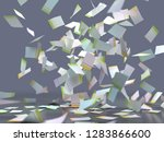 flying sheets of colored paper  ... | Shutterstock . vector #1283866600