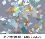 flying sheets of colored paper  ... | Shutterstock . vector #1283866603
