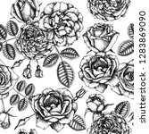 hand drawn roses. floral...   Shutterstock .eps vector #1283869090