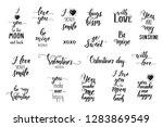 set of hand made inspirational...   Shutterstock .eps vector #1283869549