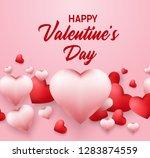 happy valentines day background ... | Shutterstock . vector #1283874559