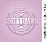 softball pink emblem | Shutterstock .eps vector #1283875159