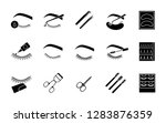 eyelash extension glyph icons... | Shutterstock .eps vector #1283876359