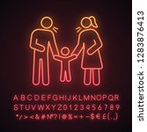 parents scolding child neon... | Shutterstock .eps vector #1283876413