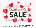 valentines day sale background...   Shutterstock .eps vector #1283877010