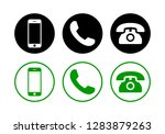 phone icon vector set. call... | Shutterstock .eps vector #1283879263