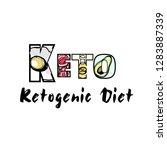 ketogenic diet set sign keto...   Shutterstock .eps vector #1283887339