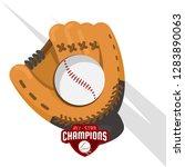baseball design on white... | Shutterstock .eps vector #1283890063