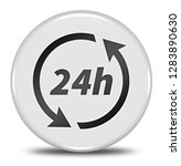 24h button isolated. 3d... | Shutterstock . vector #1283890630