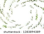 round frame workspace with... | Shutterstock . vector #1283894389