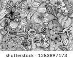 hand drawn doodle backdrop...   Shutterstock .eps vector #1283897173