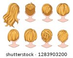 beautiful hairstyle of woman... | Shutterstock .eps vector #1283903200