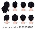 beautiful hairstyle of woman... | Shutterstock .eps vector #1283903203