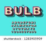 retro light bulb bright... | Shutterstock .eps vector #1283905909
