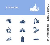 transport icon set and sport...