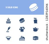 pastry icon set and colander...