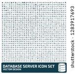 database vector icon set | Shutterstock .eps vector #1283917693