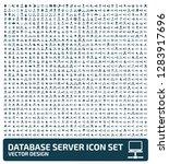 database vector icon set | Shutterstock .eps vector #1283917696