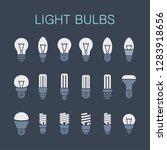 set of light bulbs   Shutterstock . vector #1283918656