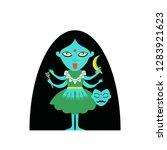 abstract hindu goddess kali... | Shutterstock .eps vector #1283921623
