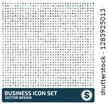 business vector icon set | Shutterstock .eps vector #1283925013