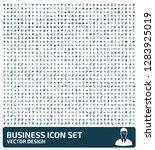 business vector icon set | Shutterstock .eps vector #1283925019