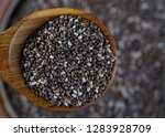 nutritious chia seeds in a... | Shutterstock . vector #1283928709