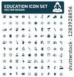 education vector icon set | Shutterstock .eps vector #1283928856
