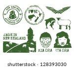 illustration of new zealand... | Shutterstock .eps vector #128393030