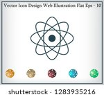pictograph of atom | Shutterstock .eps vector #1283935216