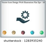 configure web icon. vector... | Shutterstock .eps vector #1283935240