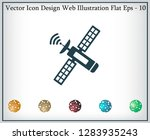 satellite sign icon  vector... | Shutterstock .eps vector #1283935243