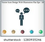 vector speaking man icon... | Shutterstock .eps vector #1283935246