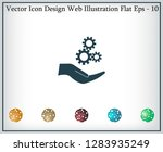 configure web icon. vector... | Shutterstock .eps vector #1283935249