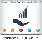 vector growing graph icon on... | Shutterstock .eps vector #1283935279
