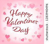 happy valentines day greetings... | Shutterstock .eps vector #1283940496