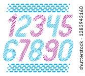 vector numbers  modern numerals ...   Shutterstock .eps vector #1283943160