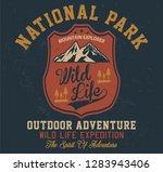 outdoor adventure  wild life... | Shutterstock .eps vector #1283943406