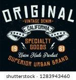 california vintage denim ... | Shutterstock .eps vector #1283943460
