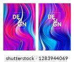 vector illustration  set of two ... | Shutterstock .eps vector #1283944069