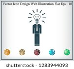 pictograph of bulb concept | Shutterstock .eps vector #1283944093